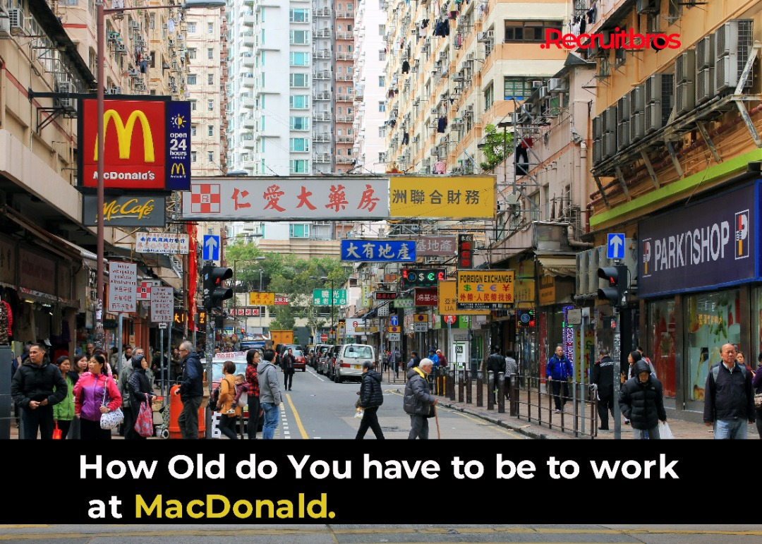How Old Do You Have To Be To Work at McDonald's