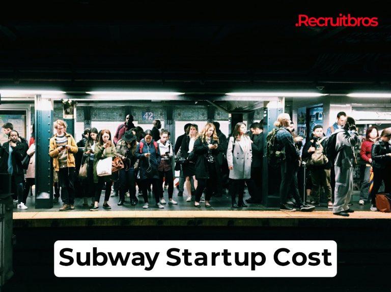 subway startup cost